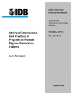 Review of International Best Practices of Programs to Promote Regional Innovation Systems